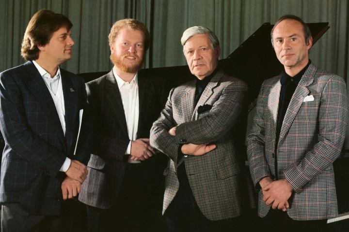 Justus Frantz, Gerhard Oppitz, Helmut Schmidt, Christoph Eschenbach