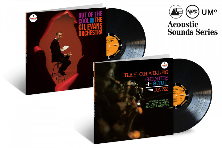 "JazzEcho-Plattenteller: The Gil Evans Orchestra ""Out Of The Cool"" / Ray Charles ""Genius + Soul = Jazz"" (Verve Acoustic Sounds Series)"