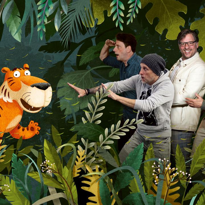 Der Achtsame Tiger -v.l.n.r.: Heiko Wohlgemuth, Alex Melcher, Martin Lingnau, Rolf Zuckowski
