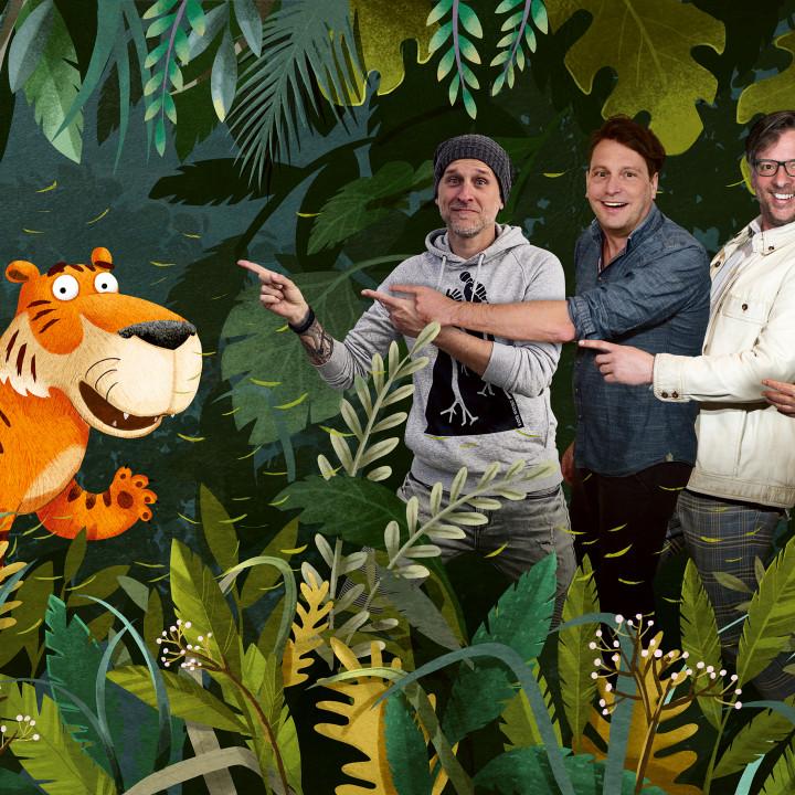 Der Achtsame Tiger – v.l.n.r.: Alex Melcher, Heiko Wohlgemuth, Martin Lingnau, Rolf Zuckowski