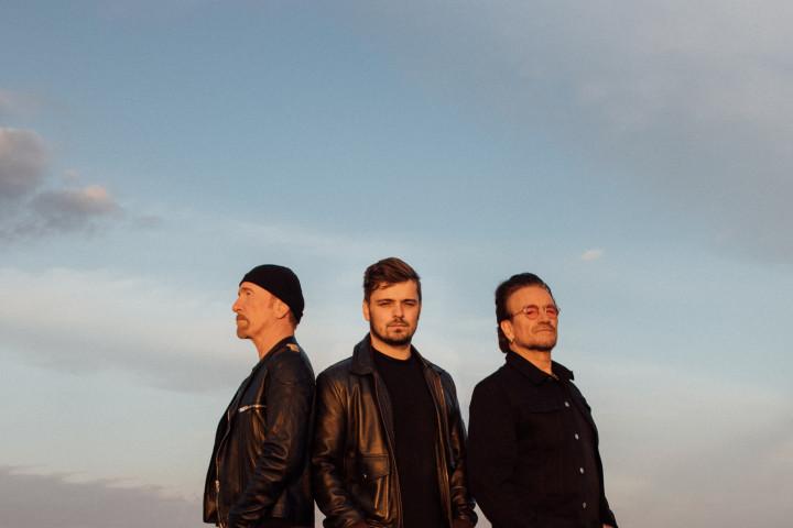 Bono, The Edge, Martin Garrix