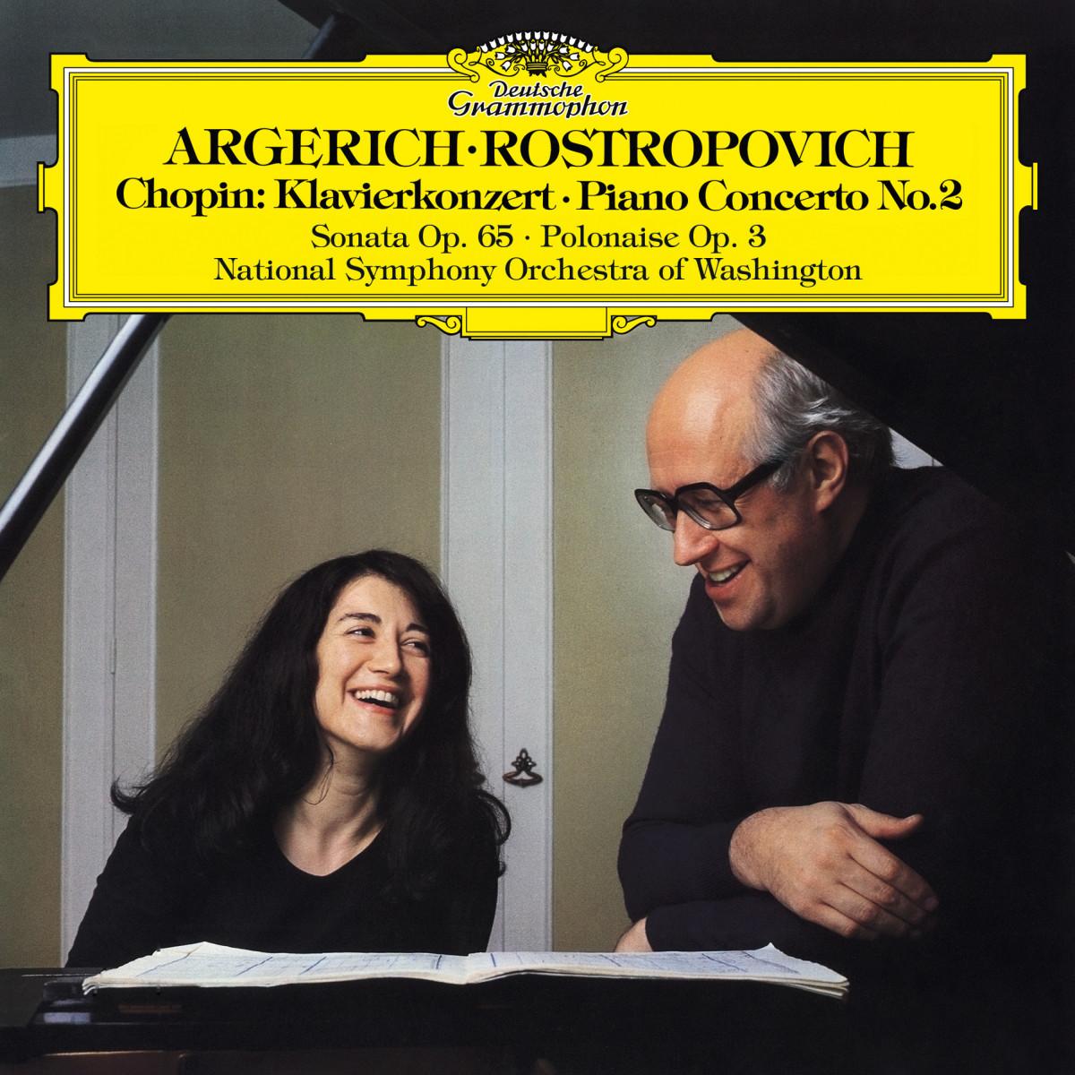 Martha Argerich - Chopin: Piano Concerto No. 2, Introduction & Polonaise brillante, Op. 3 & Cello Sonata in G Minor, Op. 65 eAlbum Cover