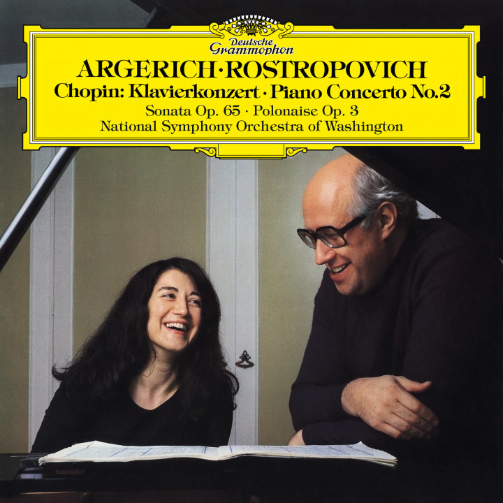 Martha Argerich - Chopin: Piano Concerto No. 2, Introduction & Polonaise brillante, Op. 3 & Cello Sonata in G Minor, Op. 65 eAlbum Cover