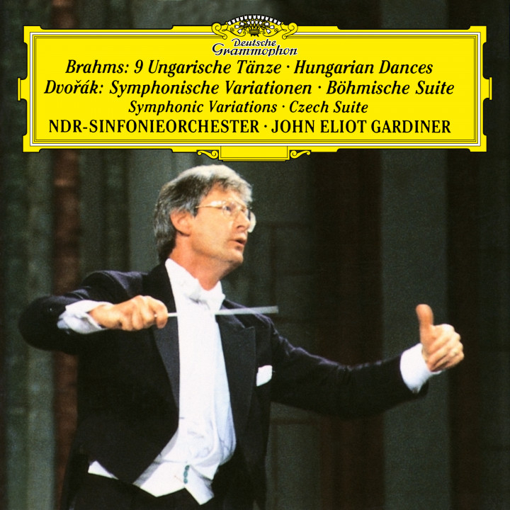 John Eliot Gardiner - Dvorák: Symphonic Variations, Op. 78, Czech Suite, Op. 39; Brahms: Hungarian Dances eAlbum Cover