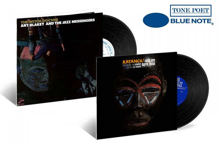 "JazzEcho-Plattenteller: Tone Poet Vinyl Series - Art Blakey & The Jazz Messengers ""The Witch Doctor"" / Curtis Amy & Dupree Bolton ""Katanga!"""