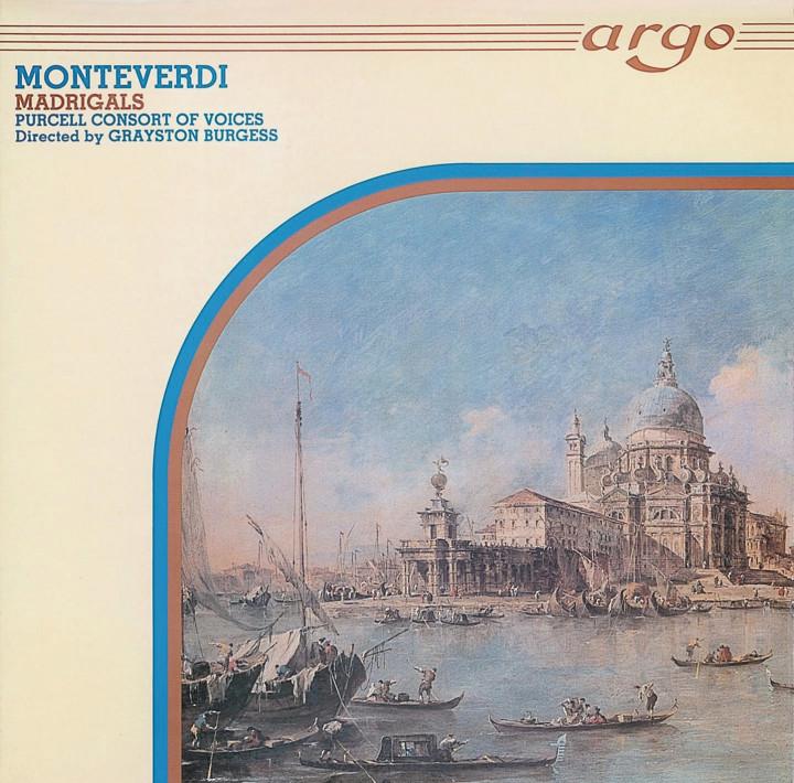 Burgess - Monteverdi: Madrigals Cover