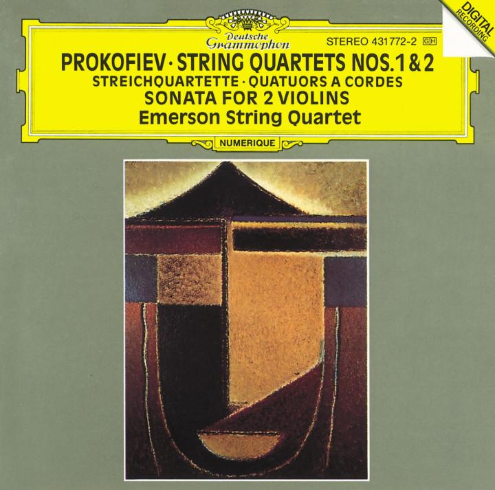 Emerson String Quartet - Prokofiev: String Quartets Nos.1 & 2; Sonata for 2 Violins Cover