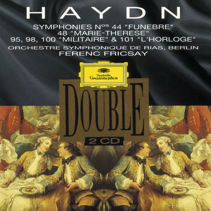 """Fricsay - Haydn: Symphonies Nos. 44 """"Trauer""""; 48 """"Maria Theresia""""; No. 95, 98, 100 """"Militär"""" & 101 """"Die Uhr"""" Cover"""