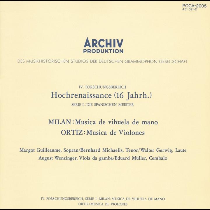 Milan: Musica de vihuela de mano / Ortiz: Musica de Violones Cover