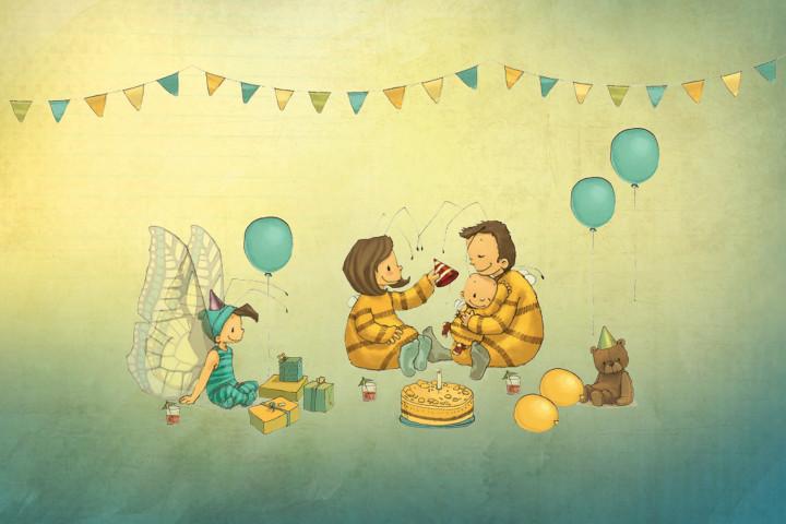 Die kleine Hummel Bommel feiert Geburtstag