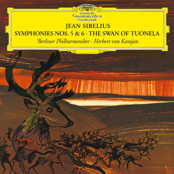 Karajan - Sibelius: Symphonies Nos. 5 & 6; The Swan of Tuonela Cover