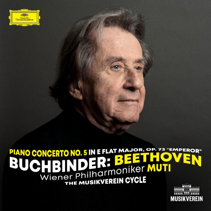 """Buchbinder Beethoven: Piano Concerto No. 5, Op. 73 """"Emperor"""" eAlbum Cover"""