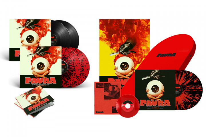 Paura - A Collection Of Italian Horror Sounds:  2LP / Exclusive Limited Spatter 2LP / CD / Exclusive Limited Tombstone Boxset