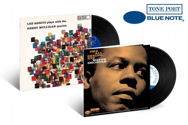 "JazzEcho-Plattenteller: Lee Konitz ""Lee Konitz Plays With The Gerry Mulligan Quartet"" / Wayne Shorter ""The All Seeing Eye"" (Tone Poet Vinyl)"