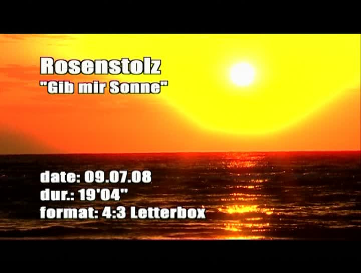 Gib mir Sonne - Making Of