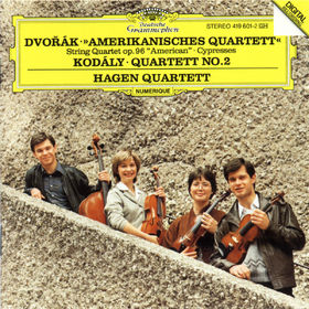 Antonín Dvorák, Amerikanisches Quartett, Zypressen, Streichquartett Nr. 3, 00028941960122