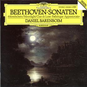 Ludwig van Beethoven, Klaviersonaten Nr. 8 c-moll Pathétique, Nr. 14 cis-moll Mondschein, Nr. 23 f-moll Appassionata, 00028941960221