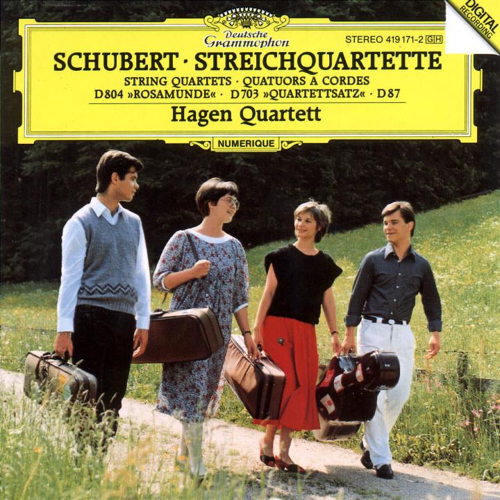 """Streichquartette Es-dur D 87; c-moll D 703; a-moll D 804 """"Rosamunde"""" 0028941917122"""