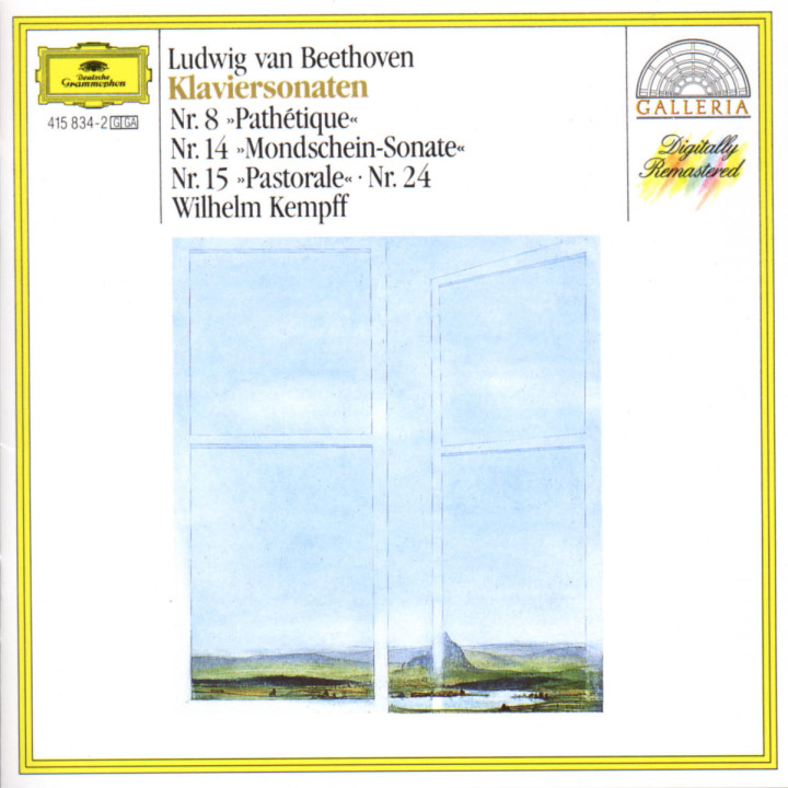 """Klaviersonaten Nr. 8 """"Pathétique""""; Nr. 14 """"Mondschein""""; Nr. 15 """"Pastorale"""" & Nr. 24 0028941583424"""