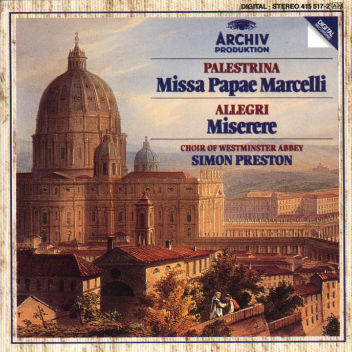 Palestrina: Missa Papae Marcelli / Allegri: Miserere 0028941551722