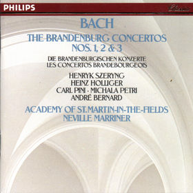 Johann Sebastian Bach, Brandenburgische Konzerte Nr. 1-3, 00028940007620