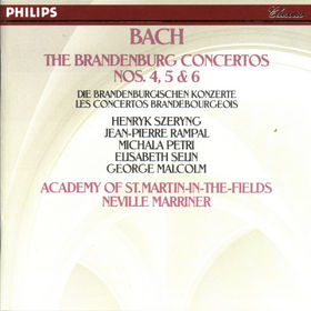 Johann Sebastian Bach, Die Brandenburgischen Konzerte Nr. 4; Nr. 5 und Nr. 6, 00028940007729