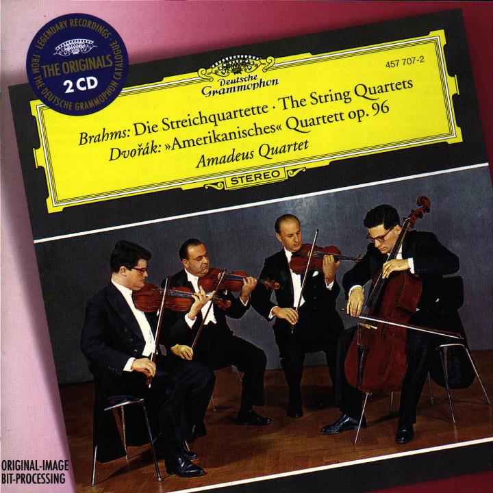"Brahms: The String Quartets / Dvorak: ""Amerikanisches"" Quartett Op.96 0028945770721"