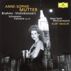 Anne-Sophie Mutter, Brahms: Violin Concerto / Schumann: Fantasie, 00028945707525