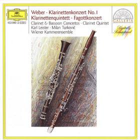 Carl Maria von Weber, Klarinettenkonzert; Klarinettenquintett; Fagottkonzert, 00028945399027