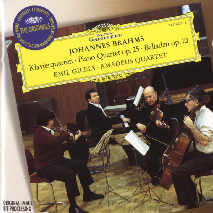 Brahms: Quartet No.1, Op.25 0028944740729