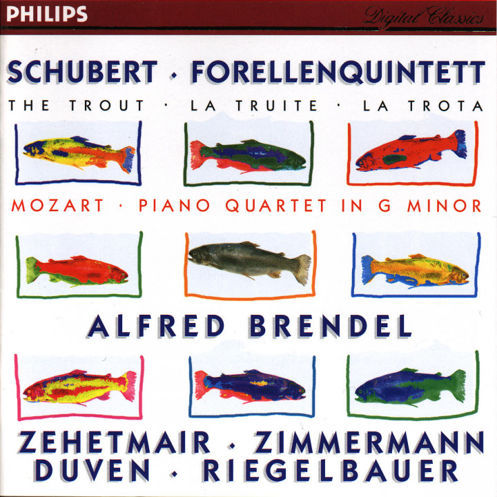 Schubert: Forellenquintett / Mozart: Piano Quartet in G minor 0028944600128