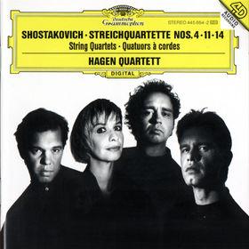 Dmitri Shostakovich, Streichquartette D-dur op. 83; f-moll op. 122; Fis-dur op. 142, 00028944586428