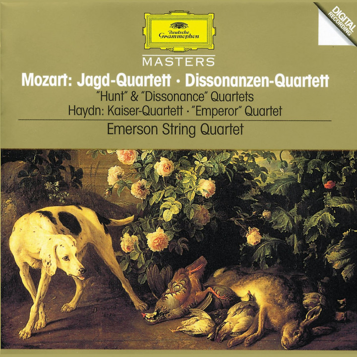 "Mozart, W.A.: String Quartets K. 458 ""Hunt""; K. 465 ""Dissonance"" / Haydn, J.: String Quartet, Op.76 0028944559822"