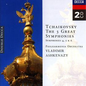 Vladimir Ashkenazy, Tchaikovsky: Symphonies Nos. 4, 5 & 6, 00028944384420