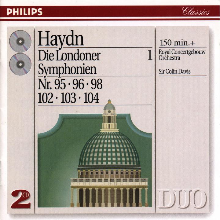 Haydn: The London Symphonies - Nos. 95, 96, 98 & 102 - 104 0028944261123