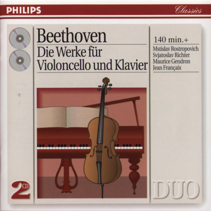Beethoven: Complete Music for Cello and Piano 0028944256527