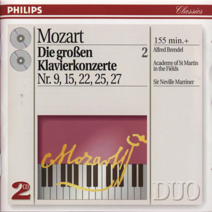 Mozart: The Great Piano Concertos Nos. 9, 15, 22, 25 & 27 0028944257126